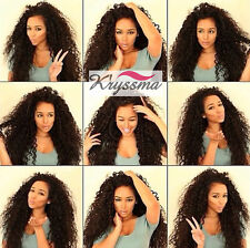 Human Hair Curly Glueless Full Lace Wigs 6A Indian Remy Hair Best Lace Front Wig