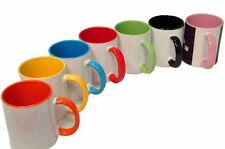 Personalised MUG Coloured Inside and handle, with Your Photo,Logo,Text