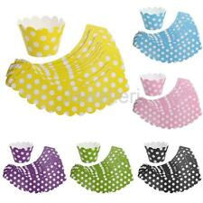20pcs Multicolor Polka Dot Cupcake Wrapper Muffin Cases Trays Party Home Décor