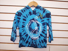 Toddler Boys Flapdoodles $27 Blue Tie Dyed Hooded Shirt Size 2T - 4T