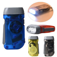 Hand Pressing Crank Emergency Camping LED Flashlight Outdoor Light Lamp 4Colors