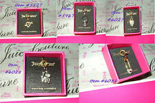 """NEW JUICY COUTURE DIY MINI CHARM IN """"JUICY"""" PINK GIFT BOX ~ FREE US SHIPPING"""