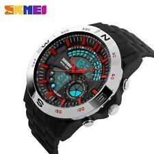 SKMEI Men's Analog Digital Chronograph  Alarm Date Week Sports Wrist Watch H6G8