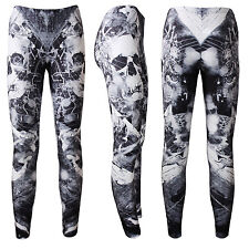 Gothic Spider Web Evil Skulls Fantasy Woodland Forest Halloween Leggings Goth