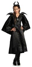 Maleficent Christening Black Gown Disney Fancy Dress Up Halloween Child Costume