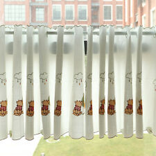 """Start At 69"""" Wide Grommet Kitchen Cafe Curtains White Lovely Panda Tier Curtains"""