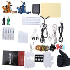 Complete Tattoo Kit Power Supply 2 Top Machine Guns 20pcs Needles + More