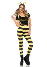 Buzzed Bumble Bee Adult Womens Costume, Yellow/Black, Leg Avenue
