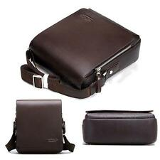 Men Travel Faux Leather Messenger Shoulder Bag Crossbody Handbag Small Bag