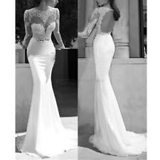 Sexy Backless Women Lace Bodycon Party Cocktail Formal Gown Evening Long Dress
