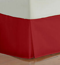 """SUPER 1000TC BURGUNDY SOLID 1PC BED SKIRT (12"""" TO 30"""" DROP LENGTH) 100% COTTON"""