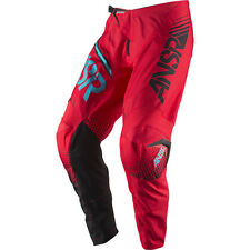 Answer 2017 Mx Gear NEW Syncron Red Teal BMX MTB Dirt Bike Motocross Pants