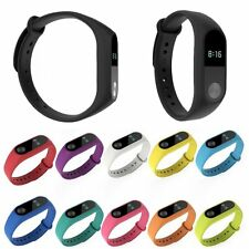 Silicone Fitness Watch Band Wrist Strap Bracelet For Xiaomi Mi Band Miband 2