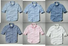 NWT Abercrombie&Fitch Men Buttom-Front Classic Shirt Size L / XL