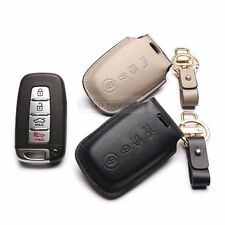 4Button Stitched Smart Key Leather Case Cover Holder Pouch BB-2 for HYUNDAI Car