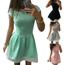 Womens Sexy Short Mini Dresses Ladies Summer Beach Party Sleeveless Sundress BN