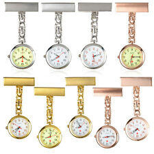 Brooch Luminous Dial Nurse Doctor Stainless Steel Pendant Quartz Pocket Watch