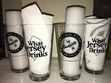 Set of 4 Flying Fish What Jersey Drinks Pint Glasses Used