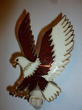 """Stain Glass Style - """"EAGLE""""    NIGHT LIGHT"""