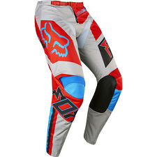 Fox Racing 2017 Mx Gear NEW 180 Falcon Grey Red Blue  Dirt Bike Motocross Pants