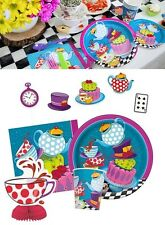 Mad Hatter's Girls Tea Party Tableware Plates Napkins Cups Birthday Decorations