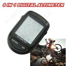 8 In 1 Digital Compass Altimeter Barometer Thermometer Weather Height Gauge