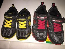 NEW Boys Skechers S-Lights Red & Yellow Light up Shoes RRP $69.95