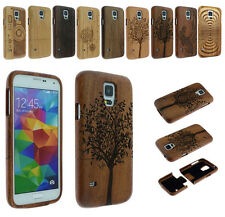 Natural Cherry Sapele Walnut Wood Bamboo Case Cover for Samsung S5/S6 Edge/S7