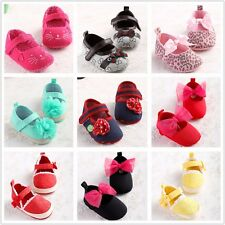 HOT Infant Baby Girl Soft Sole Crib Shoes Toddler Sneaker Baby Shoes 2 -18Months