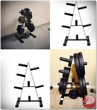 """PLATE RACK OLYMPIC TREE 2"""" PORTABLE STORAGE EXERCISE ORGANIZER WEIGHT FRAME BAR"""
