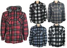 New Mens Padded Quilted Lined Lumberjack Winter JACKET Check Flannel M-5XL