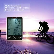 Wireless Touch Button LCD Bike Bicycle Cycle Computer Odometer Speedometer S8D9