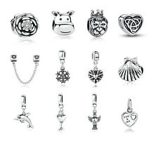 DIY European Silver Plated Charm Beads fit US Silver Charm Bracelet Chain