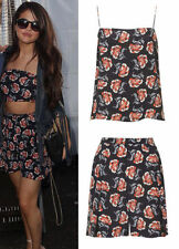 Topshop SET by Boutique 100% Silk Floral Shorts & Cami Top UK 8 12 36 40 US 4 8