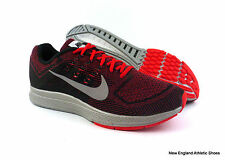 Nike men Zoom Structure 18 Flash running shoes - Action Red / Silver / Black