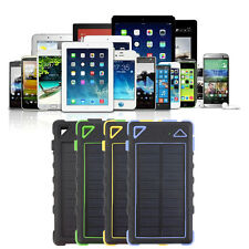 20 LED 8000mAh Dual USB Solar Power Bank Backup External Battery Phone Charger Y