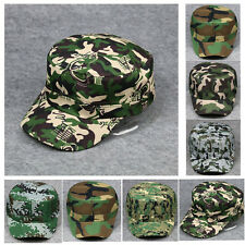 Mens Womens Camouflage Hat Military Army Camo Snapback Trucker Adjustable Cap