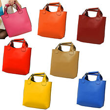 New Vintage bag Leather bags women Tote Shopping Bag Handbag blue SYH
