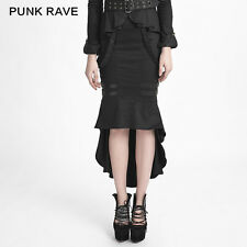 Punk Rave Cadet Long Fishtail Bondage Skirt [Special Order] - Gothic,Goth,Black,