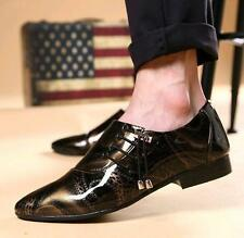 Fashion Mens Lace UP Pointed Patent Leather Wedding Dress Floral Shoes oxford SZ
