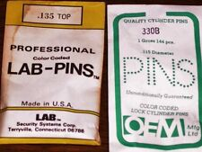 LOCK CYLINDER PINS, UNIVERSAL LAB &/or OEM TOP PINS 190T - 310T VARIATIONS