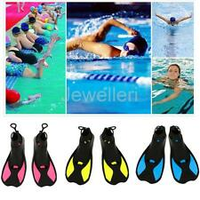 Full Foot Short Fins for Swimming/ Surfing/ Snorkeling/ Scuba Diving/ Floating