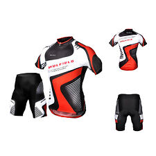 Men Cycling Bike Outdoor Jersey Shorts Short Sleeves Breathable Riding Pants SYH