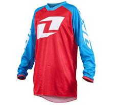 NEW ONE INDUSTRIES YOUTH/KIDS ATOM ICON JERSEY - BLUE/RED - YOUTH M & L - NEW