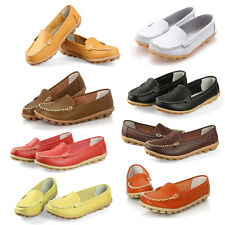 Women Flats Genuine Leather Shoes Slip-on Comfort Shoes 8 Colors Moccasins SYH