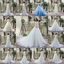 2016 New White/Ivory Wedding Dress Bridal Gown Custom Size 4-6-8-10-12-14-16+