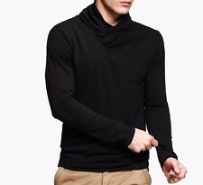 Hot Mens Long Sleeves Turtleneck Casual T-Shirt Solid Basic Tee M~XXL Two Colors