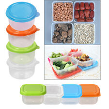 8pcs/Set Round Food Containers Plastic Microwave Freezer Storage Boxes Crisper