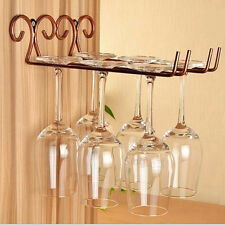 Bronze Stainless Steel Side Stand Wine Glass Rack Cup Glass Holder Shelf