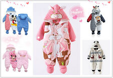 Newborn Baby Cotton Clothes Sets Girls Boys Romper Winter Warm Outwear Outfits